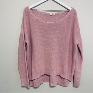 {Anthropologie} Moth Pink Oversized Sweater